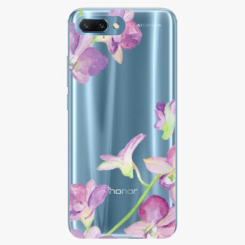 Silikonové pouzdro iSaprio - Purple Orchid na mobil Honor 10