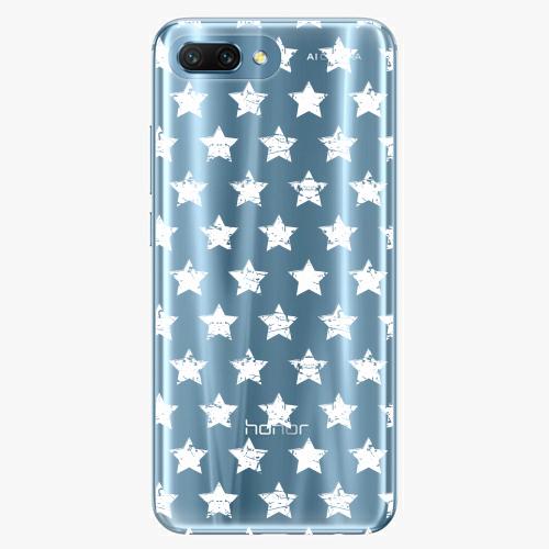 Silikonové pouzdro iSaprio - Stars Pattern white na mobil Honor 10