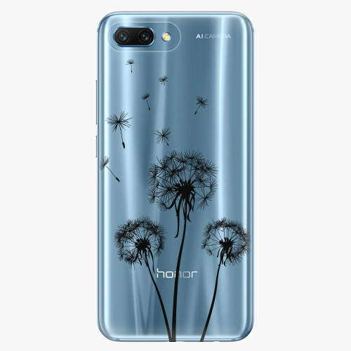 Silikonové pouzdro iSaprio - Three Dandelions black na mobil Honor 10