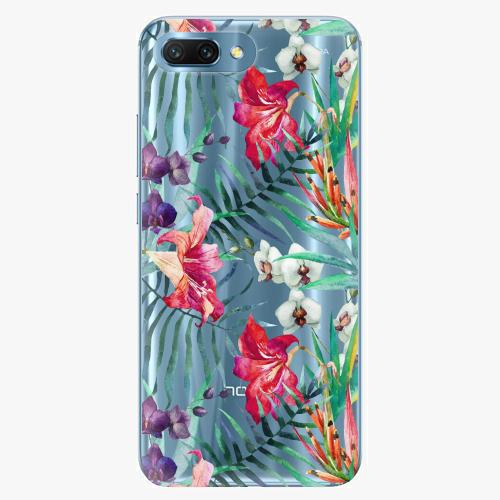 Silikonové pouzdro iSaprio - Flower Pattern 03 na mobil Honor 10