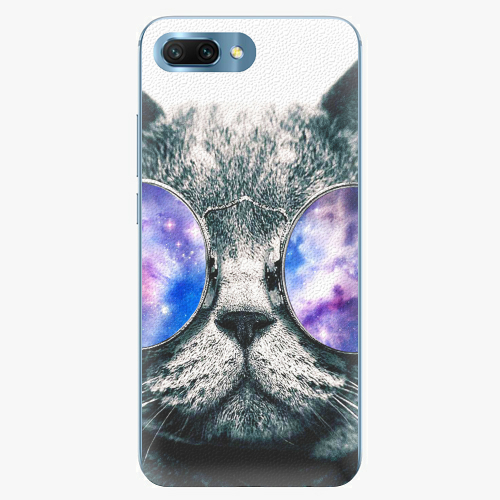 Silikonové pouzdro iSaprio - Galaxy Cat na mobil Honor 10