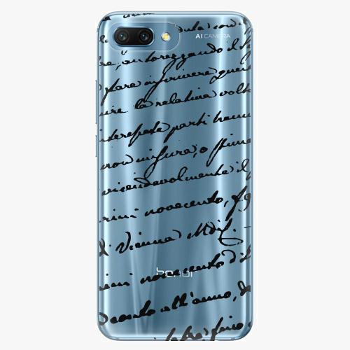 Silikonové pouzdro iSaprio - Handwriting 01 black na mobil Honor 10