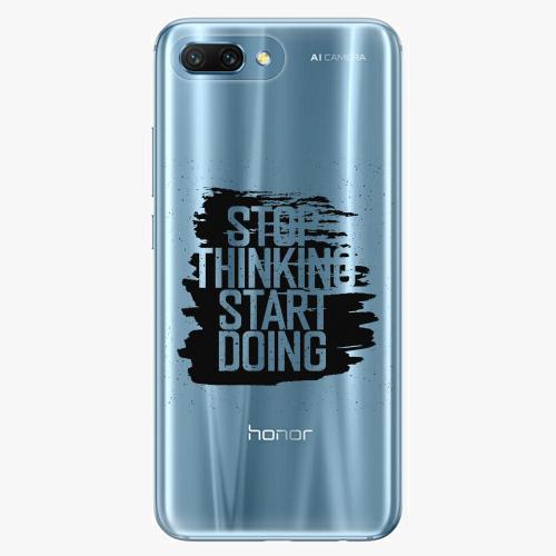 Silikonové pouzdro iSaprio - Start Doing black na mobil Honor 10
