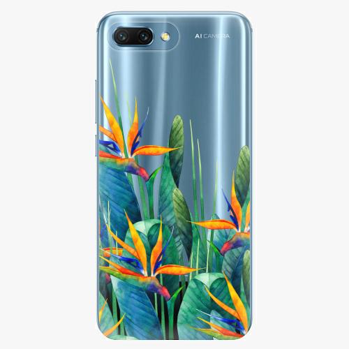 Silikonové pouzdro iSaprio - Exotic Flowers na mobil Honor 10