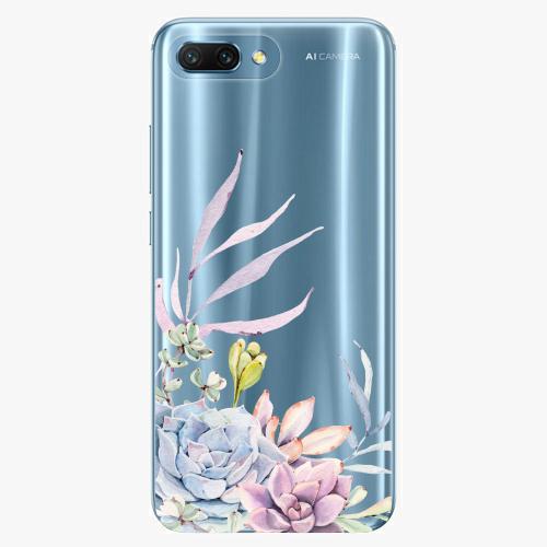 Silikonové pouzdro iSaprio - Succulent 01 na mobil Honor 10