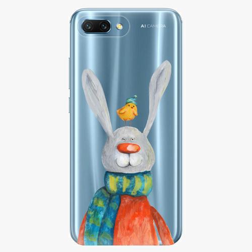 Silikonové pouzdro iSaprio - Rabbit And Bird na mobil Honor 10