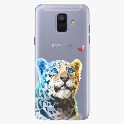 Silikonové pouzdro iSaprio - Leopard With Butterfly na mobil Samsung Galaxy A6 2018