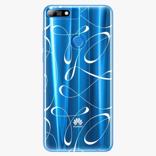Silikonové pouzdro iSaprio - Fancy white na mobil Huawei Y7 Prime 2018