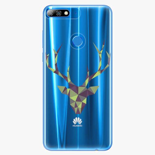 Silikonové pouzdro iSaprio - Deer Green na mobil Huawei Y7 Prime 2018