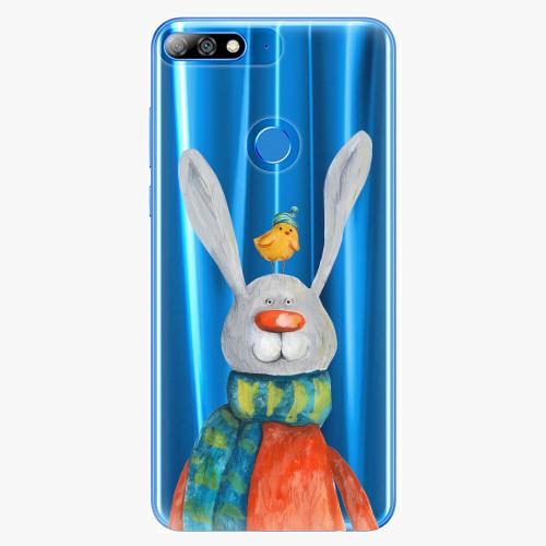 Silikonové pouzdro iSaprio - Rabbit And Bird na mobil Huawei Y7 Prime 2018