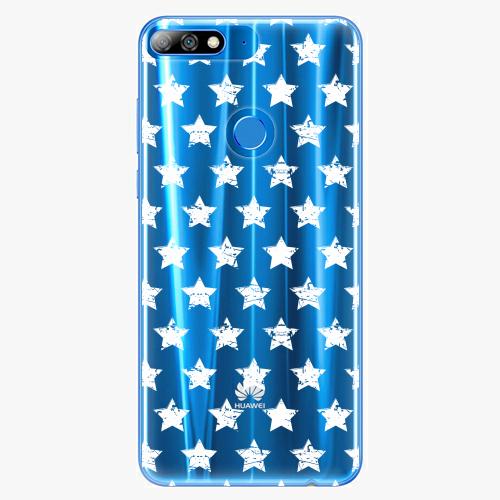 Silikonové pouzdro iSaprio - Stars Pattern white na mobil Huawei Y7 Prime 2018