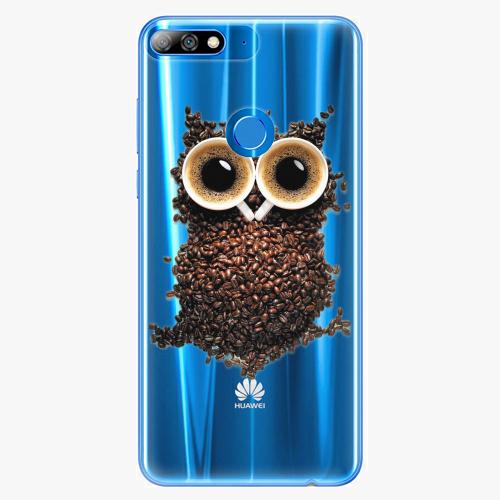 Silikonové pouzdro iSaprio - Owl And Coffee na mobil Huawei Y7 Prime 2018