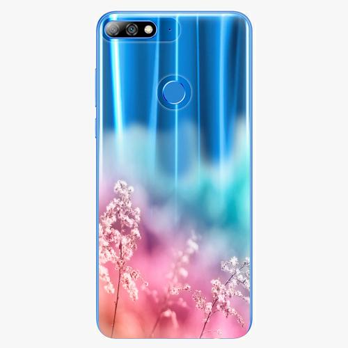 Silikonové pouzdro iSaprio - Rainbow Grass na mobil Huawei Y7 Prime 2018