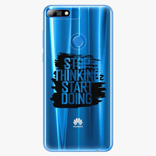 Silikonové pouzdro iSaprio - Start Doing black na mobil Huawei Y7 Prime 2018