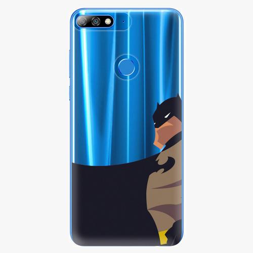 Silikonové pouzdro iSaprio - BaT Comics na mobil Huawei Y7 Prime 2018