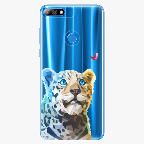 Silikonové pouzdro iSaprio - Leopard With Butterfly na mobil Huawei Y7 Prime 2018