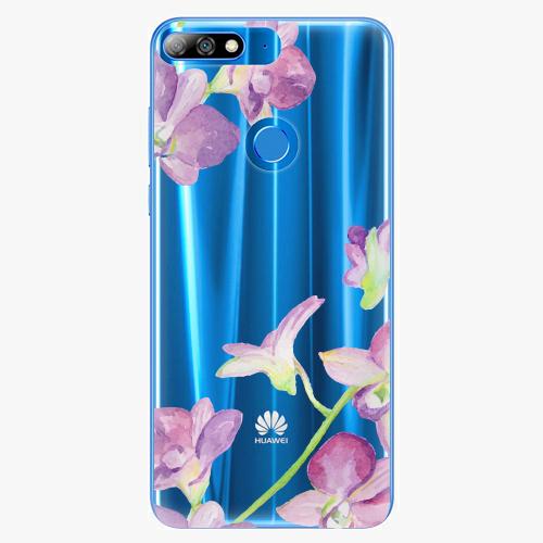 Silikonové pouzdro iSaprio - Purple Orchid na mobil Huawei Y7 Prime 2018