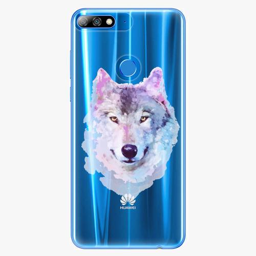 Silikonové pouzdro iSaprio - Wolf 01 na mobil Huawei Y7 Prime 2018