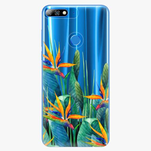 Silikonové pouzdro iSaprio - Exotic Flowers na mobil Huawei Y7 Prime 2018