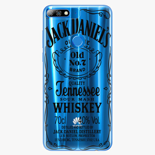 Silikonové pouzdro iSaprio - Transparent Black Jack na mobil Huawei Y7 Prime 2018