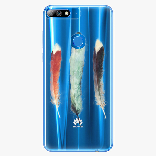 Silikonové pouzdro iSaprio - Three Feathers na mobil Huawei Y7 Prime 2018