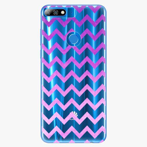 Silikonové pouzdro iSaprio - Zigzag purple na mobil Huawei Y7 Prime 2018