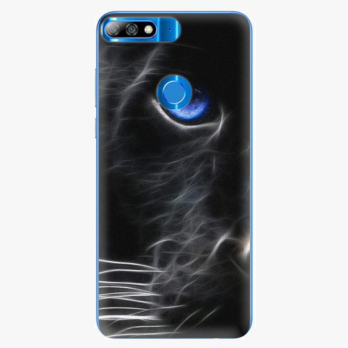 Silikonové pouzdro iSaprio - Black Puma na mobil Huawei Y7 Prime 2018