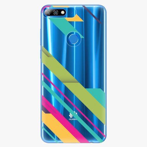 Silikonové pouzdro iSaprio - Color Stripes 03 na mobil Huawei Y7 Prime 2018