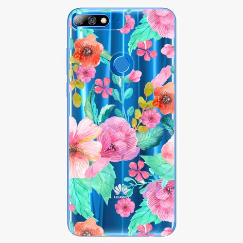 Silikonové pouzdro iSaprio - Flower Pattern 01 na mobil Huawei Y7 Prime 2018