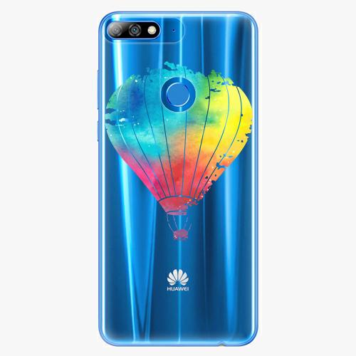 Silikonové pouzdro iSaprio - Flying Baloon 01 na mobil Huawei Y7 Prime 2018