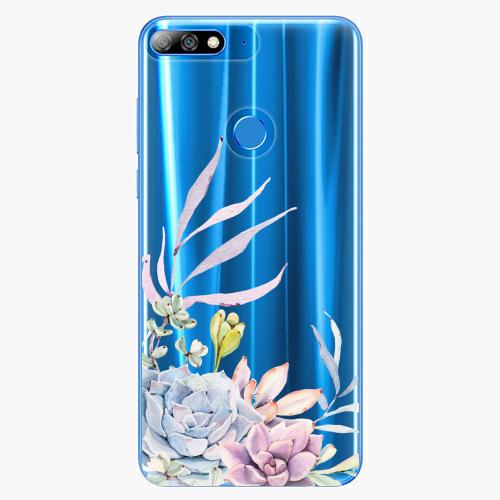 Silikonové pouzdro iSaprio - Succulent 01 na mobil Huawei Y7 Prime 2018