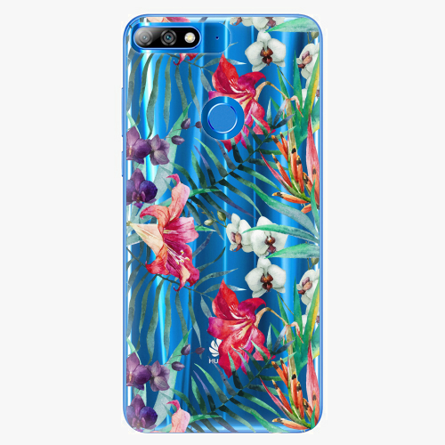 Silikonové pouzdro iSaprio - Flower Pattern 03 na mobil Huawei Y7 Prime 2018