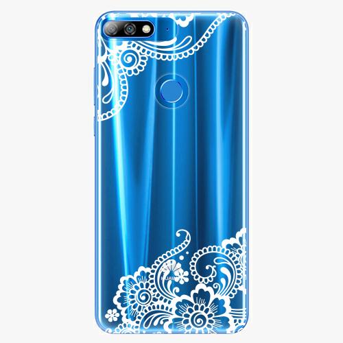 Silikonové pouzdro iSaprio - White Lace 02 na mobil Huawei Y7 Prime 2018