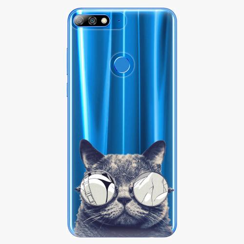 Silikonové pouzdro iSaprio - Crazy Cat 01 na mobil Huawei Y7 Prime 2018