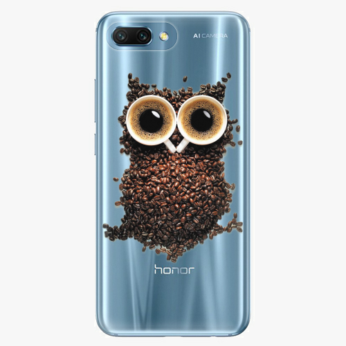 Silikonové pouzdro iSaprio - Owl And Coffee na mobil Honor 10