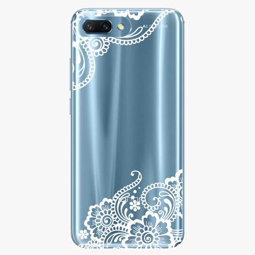 Silikonové pouzdro iSaprio - White Lace 02 na mobil Honor 10