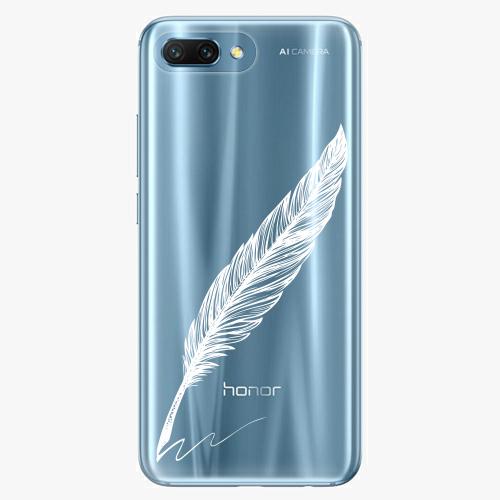 Silikonové pouzdro iSaprio - Writing By Feather white na mobil Honor 10