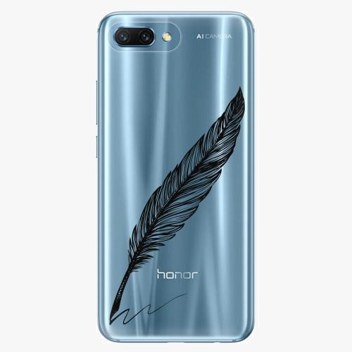 Silikonové pouzdro iSaprio - Writing By Feather black na mobil Honor 10