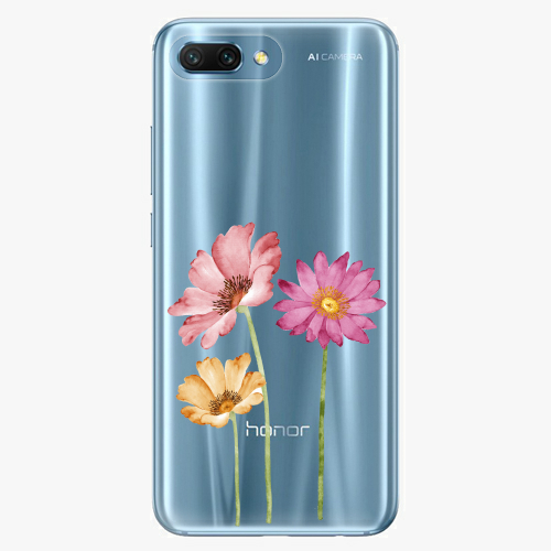 Silikonové pouzdro iSaprio - Three Flowers na mobil Honor 10