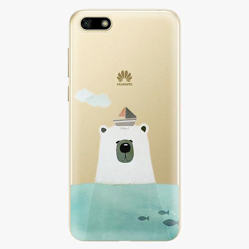 Silikonové pouzdro iSaprio - Bear With Boat na mobil Huawei Y5 2018