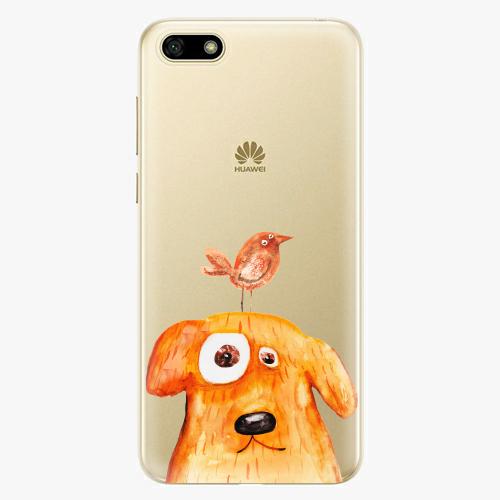 Silikonové pouzdro iSaprio - Dog And Bird na mobil Huawei Y5 2018