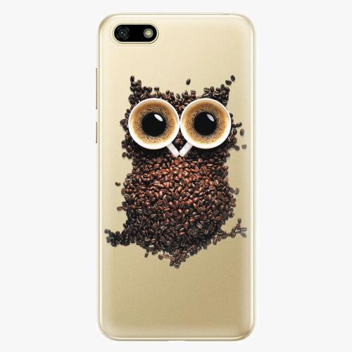 Silikonové pouzdro iSaprio - Owl And Coffee na mobil Huawei Y5 2018