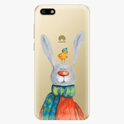 Silikonové pouzdro iSaprio - Rabbit And Bird na mobil Huawei Y5 2018