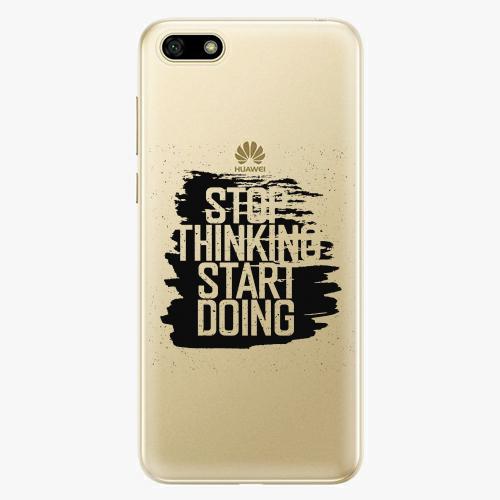 Silikonové pouzdro iSaprio - Start Doing black na mobil Huawei Y5 2018