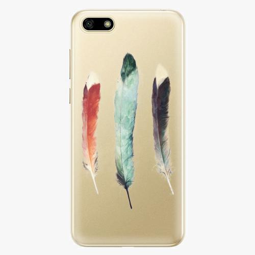 Silikonové pouzdro iSaprio - Three Feathers na mobil Huawei Y5 2018
