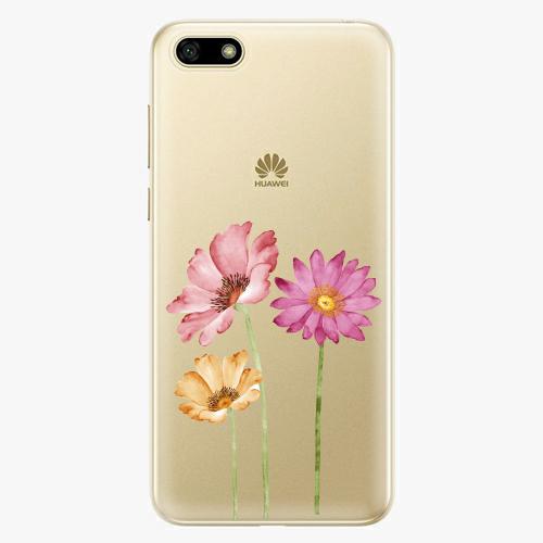 Silikonové pouzdro iSaprio - Three Flowers na mobil Huawei Y5 2018
