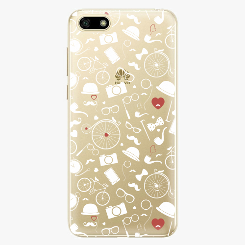 Silikonové pouzdro iSaprio - Vintage Pattern 01 white na mobil Huawei Y5 2018