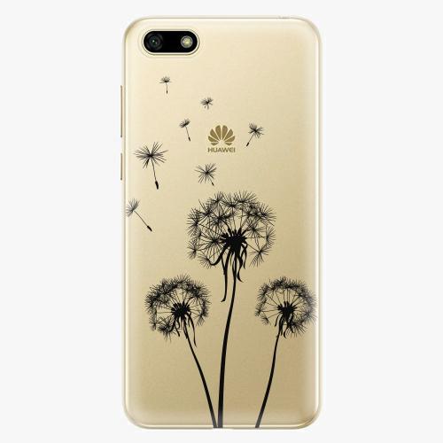 Silikonové pouzdro iSaprio - Three Dandelions black na mobil Huawei Y5 2018