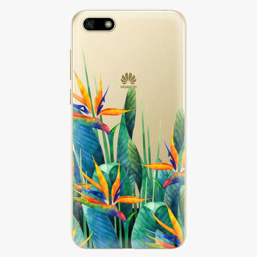 Silikonové pouzdro iSaprio - Exotic Flowers na mobil Huawei Y5 2018