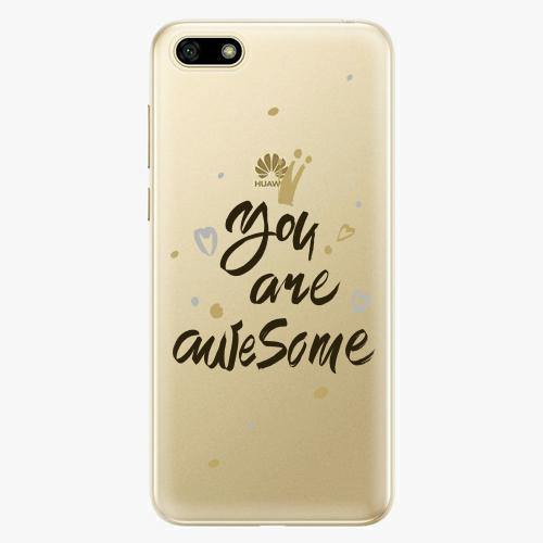 Silikonové pouzdro iSaprio - You Are Awesome black na mobil Huawei Y5 2018